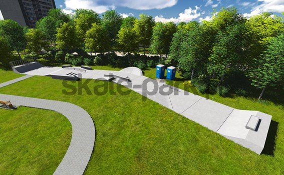 Skatepark betonowy 750315