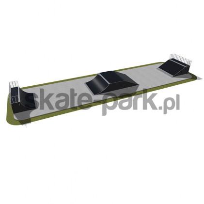 Skatepark modułowy 420115