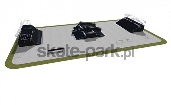 Skatepark modułowy 520115