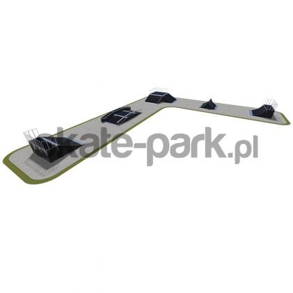 Skatepark modułowy 530115