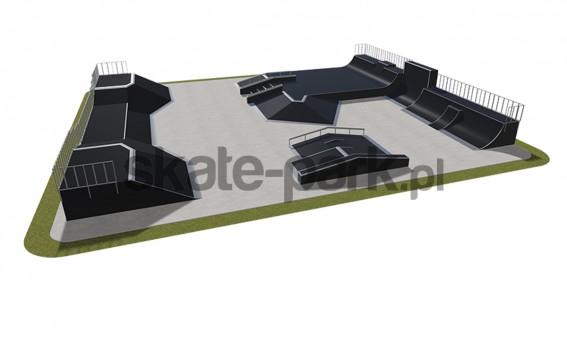 Skatepark modułowy 580115