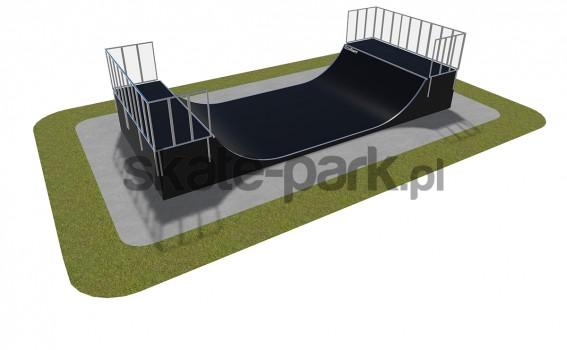 Skatepark modułowy - minirampa 470115
