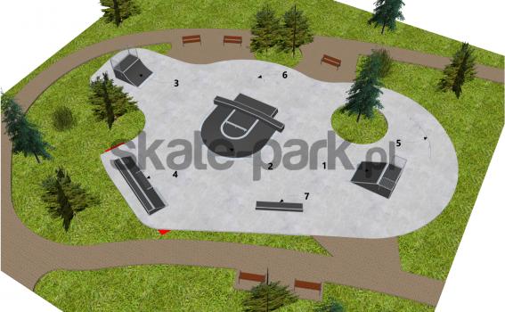 Skatepark modułowy OF2006062NW