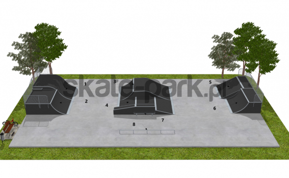 Skatepark modułowy OF2008046NW