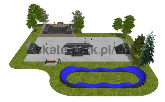 Skatepark modułowy OF2007140NW