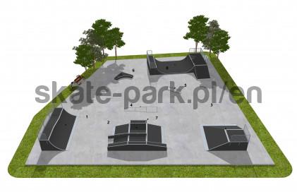 Skatepark modułowy OF2008093NW