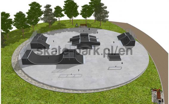 Skatepark modułowy OF2008118NW