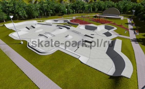 Concrete skatepark 143695