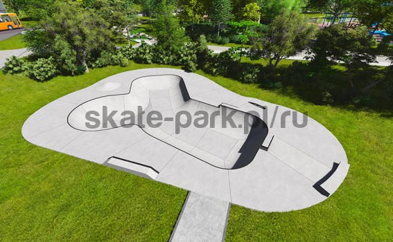 Concrete skatepark 390113