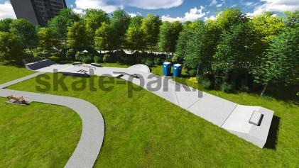 Concrete skatepark 750315