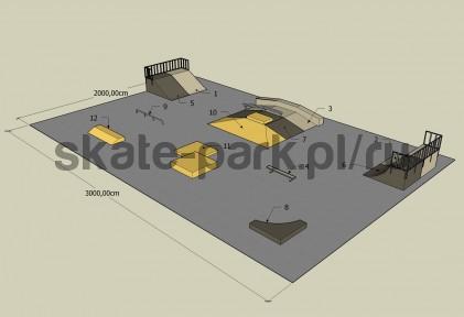 Sample skatepark 400809